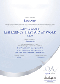 First Aid at Work course Glasgow and throughout Central Scotland